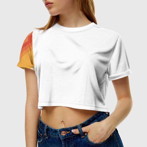 Женская футболка Crop-top 3D Полосы Фото 01