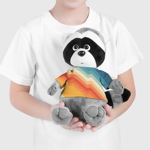 Енотик в футболке 3D Полосы Фото 01