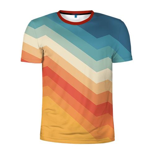 Мужская футболка 3D спортивная Полосы