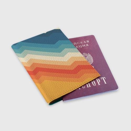 Обложка для паспорта матовая кожа Полосы Фото 01