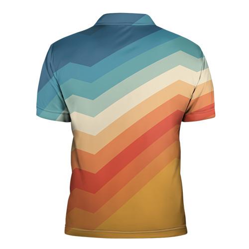Мужская рубашка поло 3D Полосы Фото 01