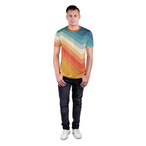 Мужская футболка 3D спортивная Полосы Фото 01