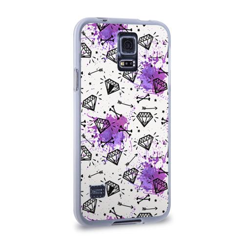 Чехол для Samsung Galaxy S5 силиконовый  Фото 02, Стрелы и алмазы