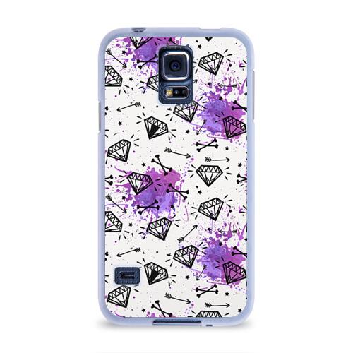 Чехол для Samsung Galaxy S5 силиконовый  Фото 01, Стрелы и алмазы