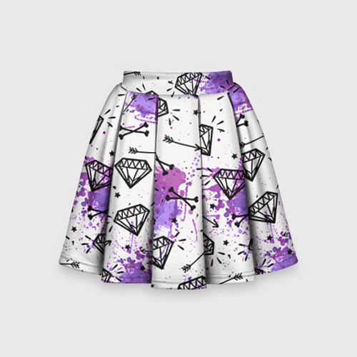 Детская юбка-солнце 3D Стрелы и алмазы