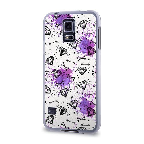 Чехол для Samsung Galaxy S5 силиконовый  Фото 03, Стрелы и алмазы