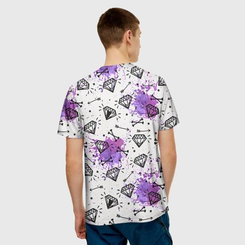 Мужская футболка 3D  Фото 02, Стрелы и алмазы