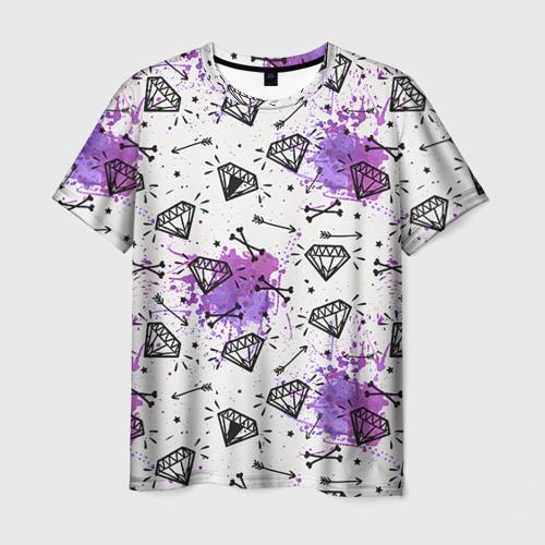 Мужская футболка 3D  Фото 01, Стрелы и алмазы