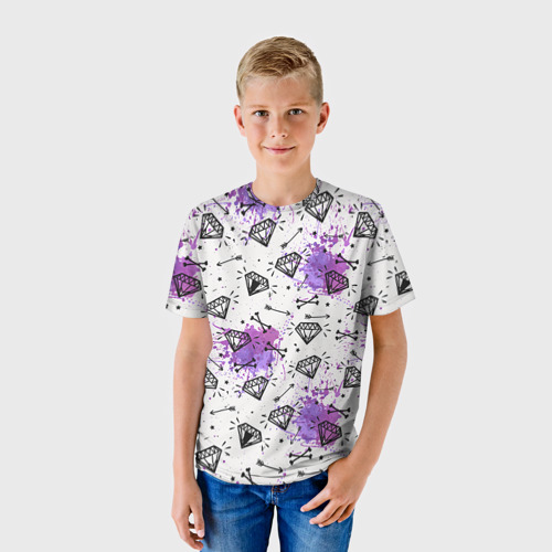 Детская футболка 3D Стрелы и алмазы