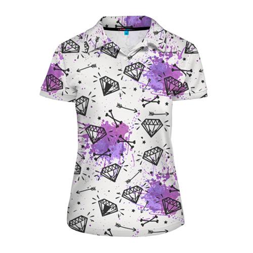 Женская рубашка поло 3D Стрелы и алмазы