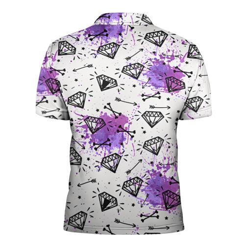 Мужская рубашка поло 3D  Фото 02, Стрелы и алмазы