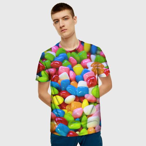 Мужская футболка 3D Конфетки Фото 01