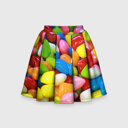 Детская юбка-солнце 3D Конфетки
