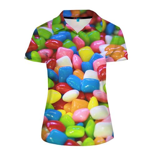 Женская рубашка поло 3D Конфетки