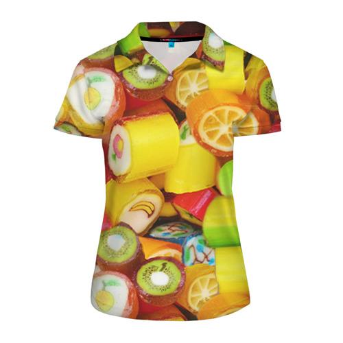 Женская рубашка поло 3D Леденцы