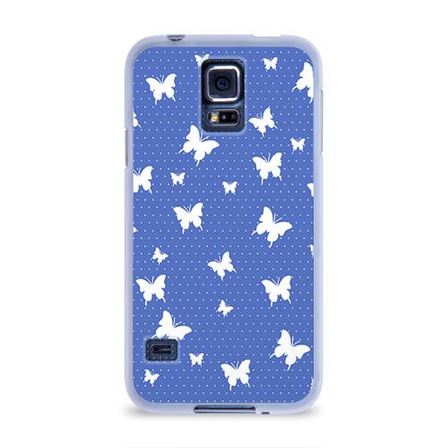 Чехол для Samsung Galaxy S5 силиконовый  Фото 01, Бабочки