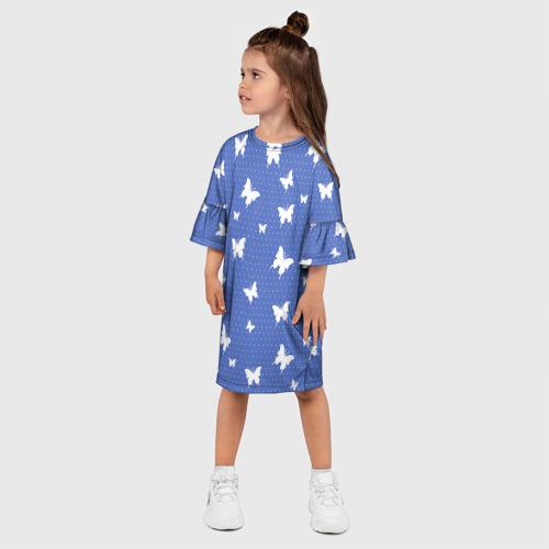 Детское платье 3D Бабочки Фото 01