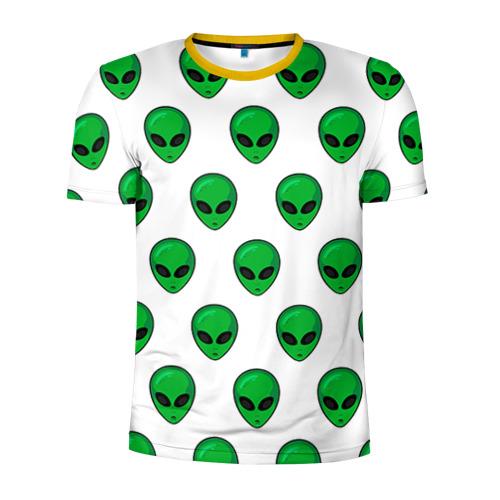 Мужская футболка 3D спортивная Пришелец