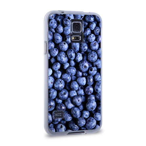 Чехол для Samsung Galaxy S5 силиконовый  Фото 02, Черника