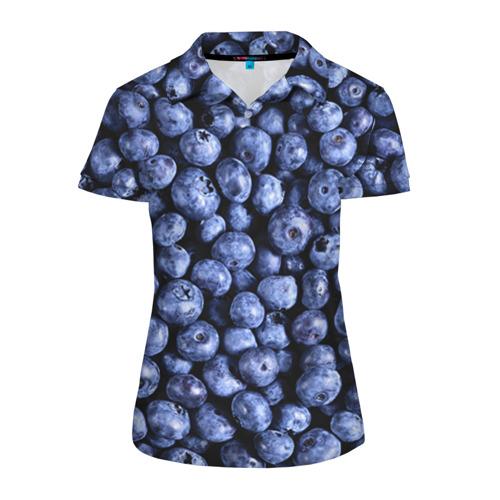 Женская рубашка поло 3D Черника
