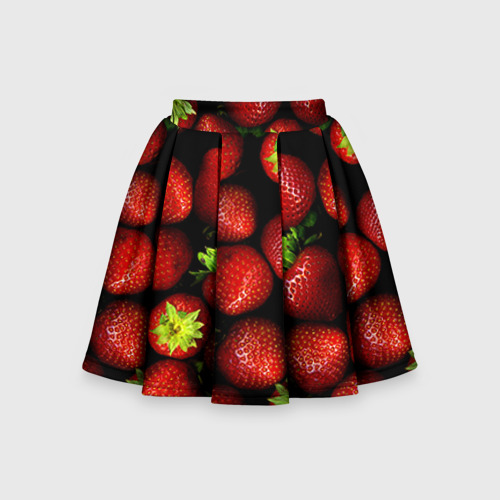 Детская юбка-солнце 3D Клубничка