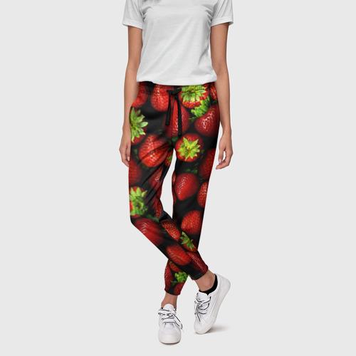 Женские брюки 3D Клубничка