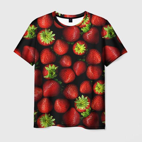 Мужская футболка 3D Клубничка