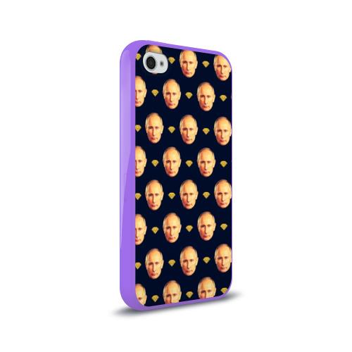 Чехол для Apple iPhone 4/4S силиконовый глянцевый Путин Фото 01
