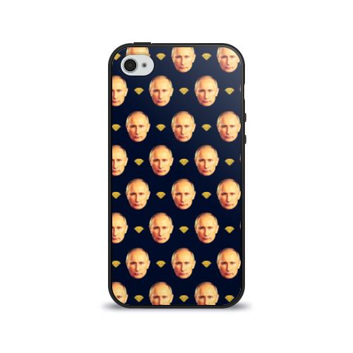 Чехол для Apple iPhone 4/4S силиконовый глянцевый Путин от Всемайки