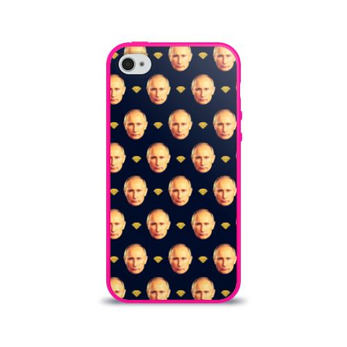 """Чехол силиконовый глянцевый для Apple iPhone 4 """"В.Путин"""" - 1"""