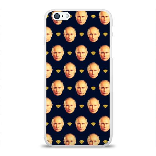 Чехол для Apple iPhone 6Plus/6SPlus силиконовый глянцевый Путин Фото 01