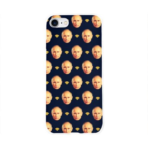 Чехол для Apple iPhone 8 силиконовый глянцевый Путин Фото 01