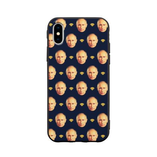 Чехол для Apple iPhone X силиконовый матовый Путин Фото 01