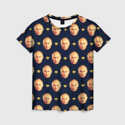 Женская футболка 3D Путин от Всемайки