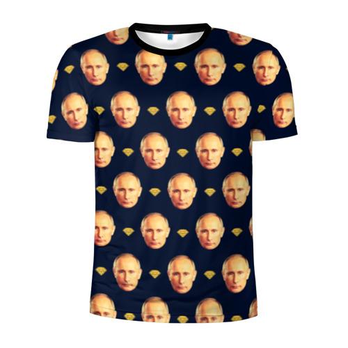 Мужская футболка 3D спортивная Путин