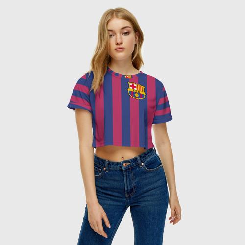 Женская футболка 3D укороченная  Фото 04, Pique