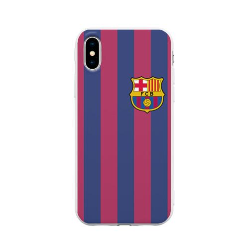 Чехол для Apple iPhone X силиконовый матовый Messi