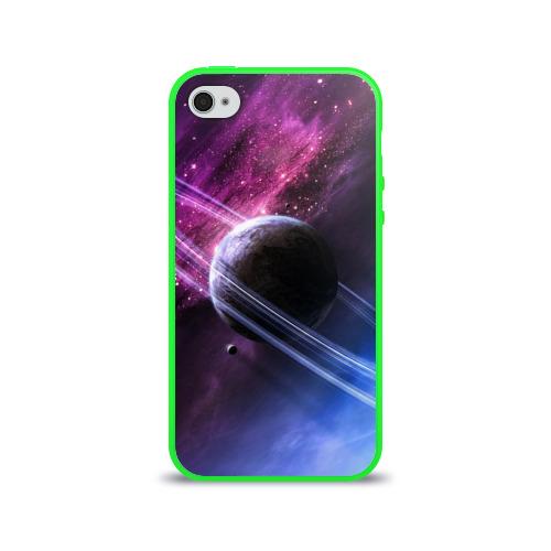 """Чехол силиконовый глянцевый для Apple iPhone 4_S """"Космос"""" (4) - 1"""