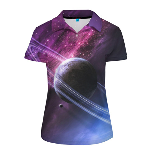 Женская рубашка поло 3D Космос