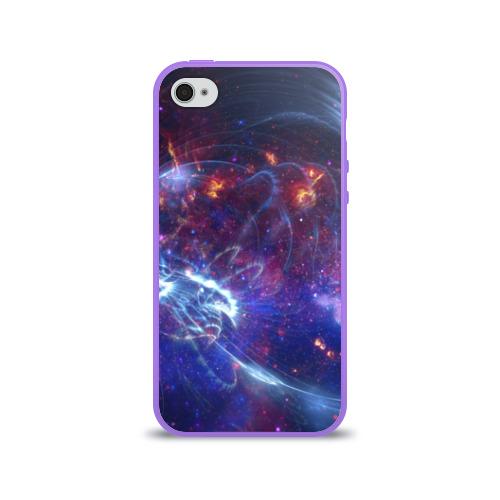 Чехол для Apple iPhone 4/4S силиконовый глянцевый Космос