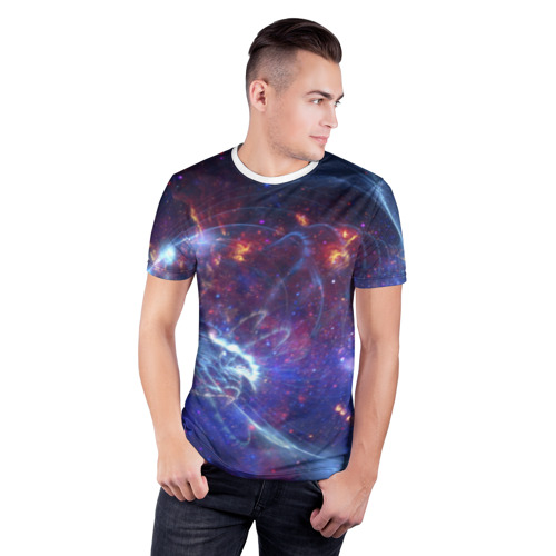 Мужская футболка 3D спортивная  Фото 03, Космос