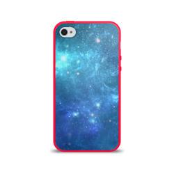 Чехол для Apple iPhone 4/4S силиконовый глянцевыйКосмос