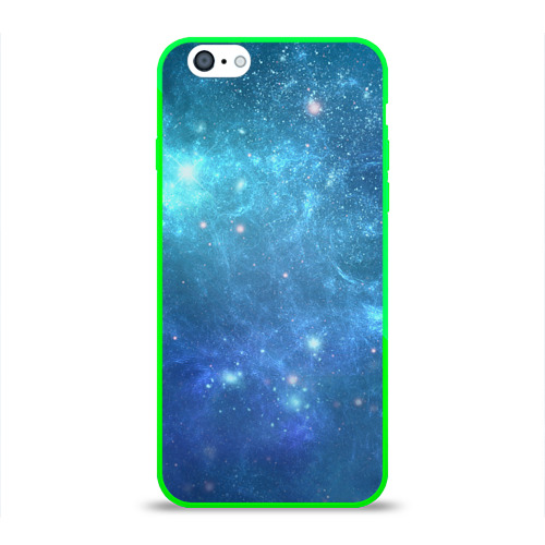 """Чехол силиконовый глянцевый для Apple iPhone 6 """"Космос"""" (синий) - 1"""
