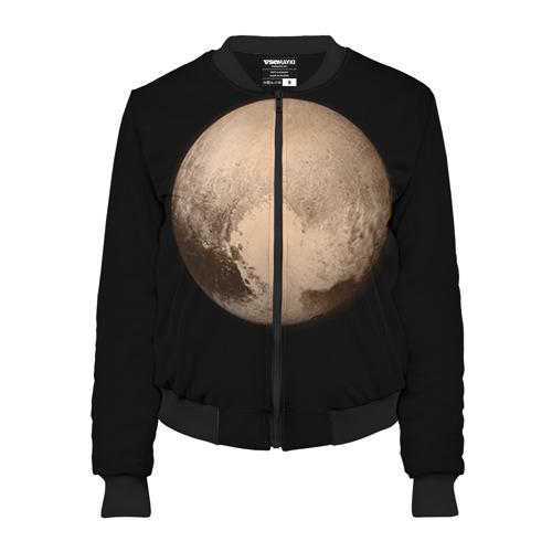 Женский бомбер 3D Плутон