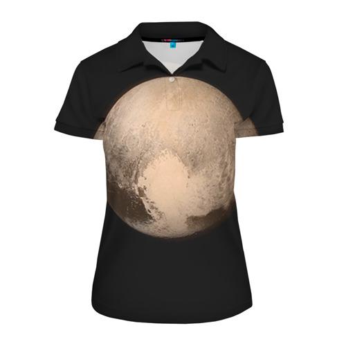 Женская рубашка поло 3D Плутон