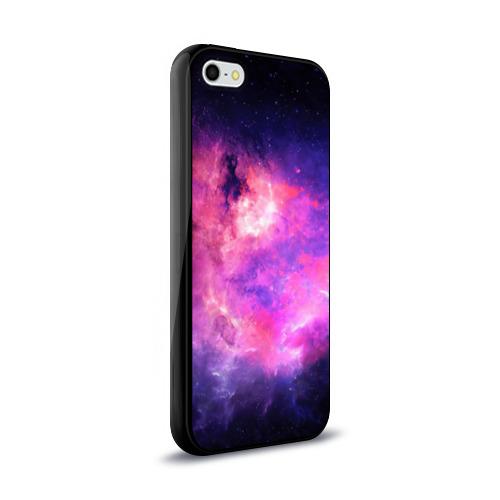Чехол для Apple iPhone 5/5S силиконовый глянцевый Космос Фото 01