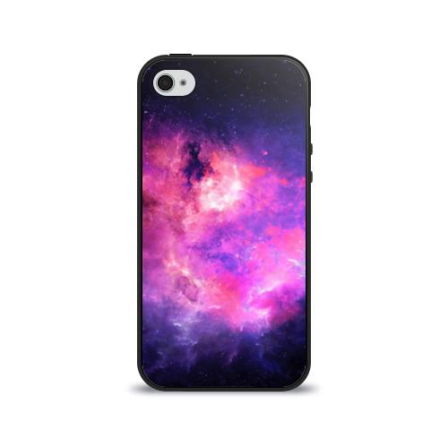"""Чехол силиконовый глянцевый для Apple iPhone 4 """"Космос"""" - 1"""