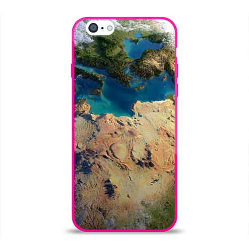 Чехол для Apple iPhone 6 силиконовый глянцевый  Фото 01, Земля