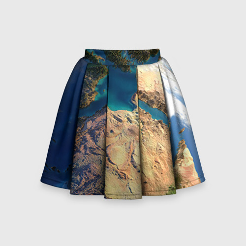 Детская юбка-солнце 3D Земля
