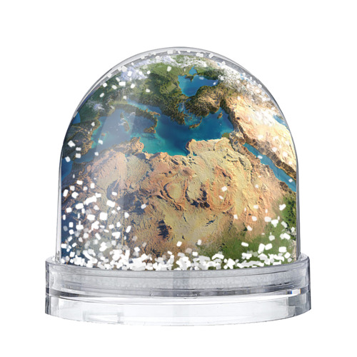 Водяной шар со снегом Земля